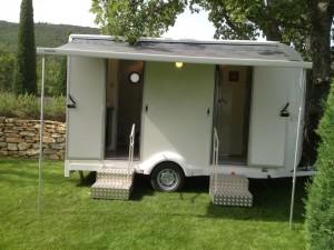 Caravane Prestige Bio Sanitaire Location