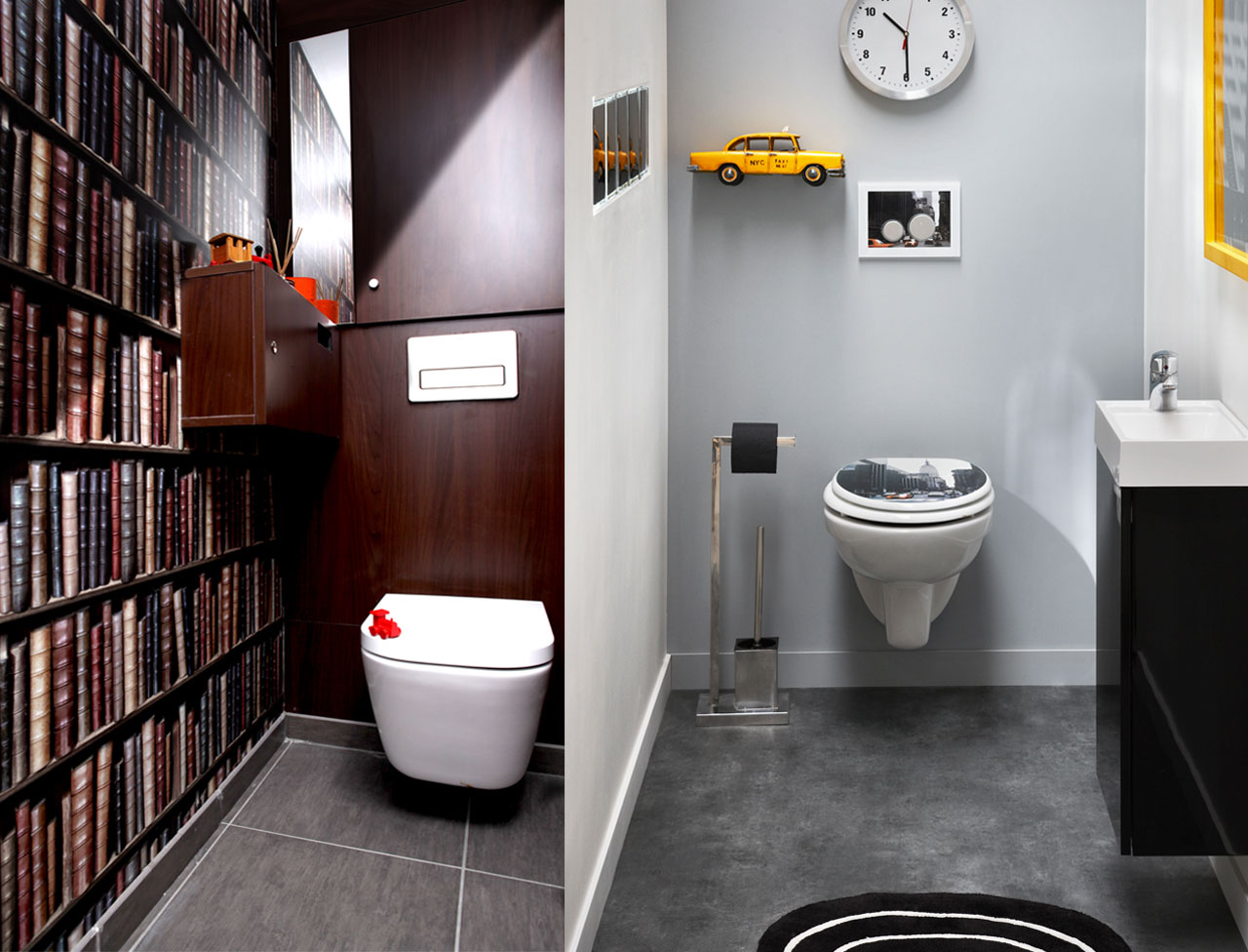Wiki sanitaires les toilettes for Idee deco wc design